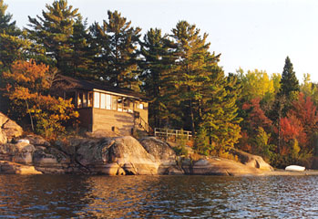 Ginger's Cabin: View from Water